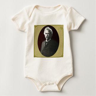 Mark Twain in a Lantern Slide by Drew of Boston Baby Bodysuit