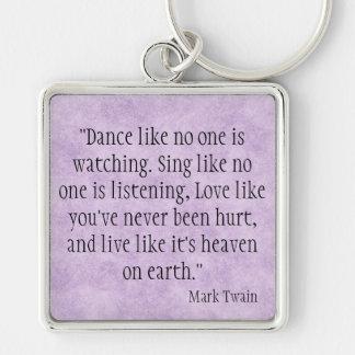 Mark Twain Keychain