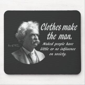 Mark Twain La ropa hace al hombre Tapete De Raton
