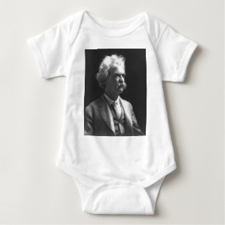 mark twain photo baby bodysuit