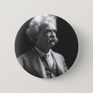 mark twain photo pinback button