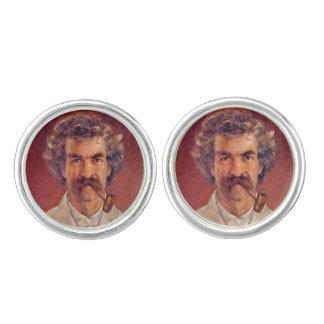 Mark Twain pipe smoker's cufflinks