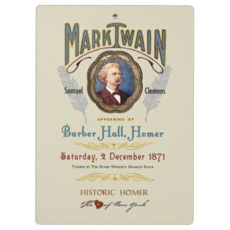 Mark Twain Plays Historic Homer Clipboard