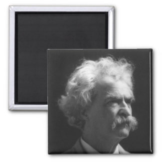Mark Twain portrait 2 Inch Square Magnet