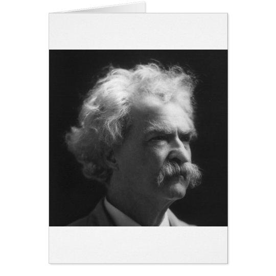 Mark Twain portrait Card
