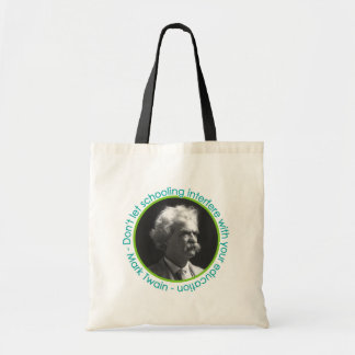 Mark Twain Portrait With Quote Book Bag