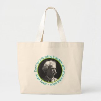 Mark Twain Portrait With Quote Large Book Bag