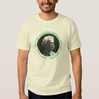 Mark Twain Portrait With Quote Shirt