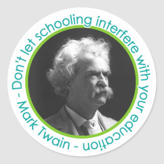 Mark Twain Portrait With Quote Stickers