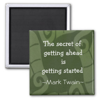 Mark Twain Quotation - Inspirational Gift 2 Inch Square Magnet