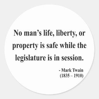 Mark Twain Quote 4a Round Sticker