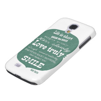 Mark Twain quote about life Samsung S4 Case