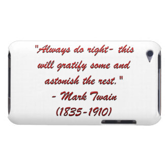 Mark Twain quote Barely There iPod Case