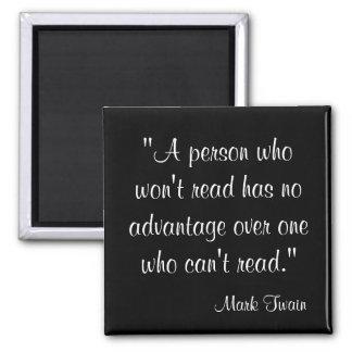 Mark Twain Quote Magnet