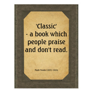 Mark Twain quote on books Post Cards