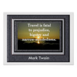 Mark Twain quote - Poster