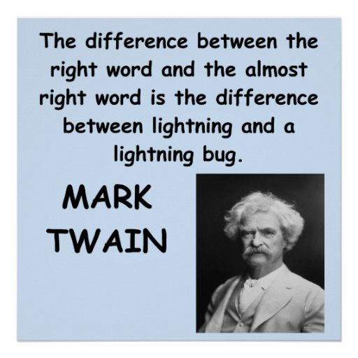 Mark Twain Quotes: Mark Twain Quote Poster