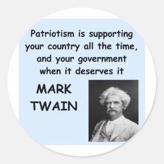 Mark Twain quote Stickers