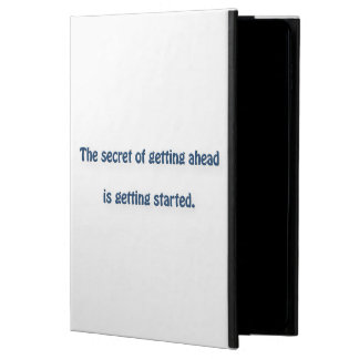 Mark Twain Quote - The secret of getting ahead is… Powis iPad Air 2 Case