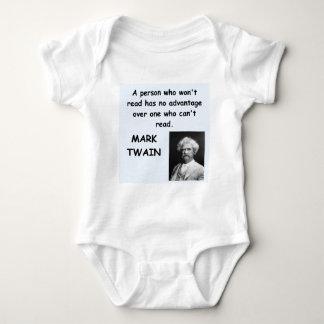 Mark Twain quote Infant Creeper