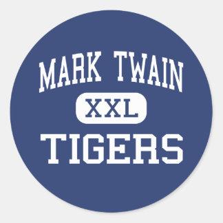Mark Twain - Tigers - High - Center Missouri Sticker