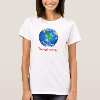 Mark Twain travel quote on back of shirt