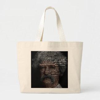 Mark Twain (TypeFace) Large Tote Bag