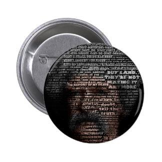 Mark Twain (TypeFace) Pinback Button