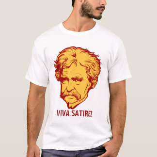 "Mark Twain ""Viva Satire""T-Shirt T-Shirt"