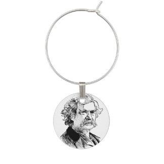 Mark Twain Writers Wine Charm