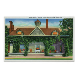 Mark Twain's Summer Home, Quarry Farm Poster