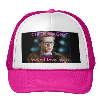 mark, We all love mark, CHICK MAGNET Trucker Hat