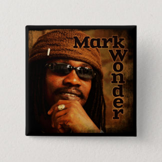 "Mark Wonder 2"" Square Badge Pinback Button"