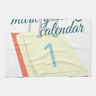 Mark Your Calendar Kitchen Towels