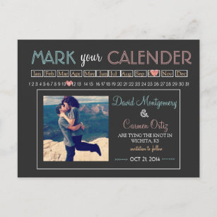 """""""Mark your Calender"""" Save the Date Announcement Postcard"""