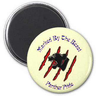 Marked By The Beast 2 Inch Round Magnet