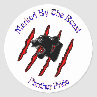Marked By The Beast Classic Round Sticker