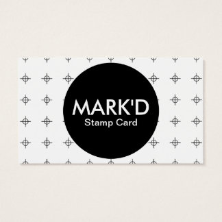 marked stamp card