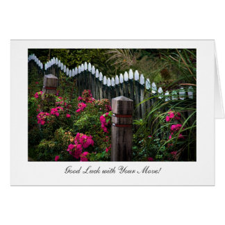 Marken Roadside Garden - Good Luck with Your Move Card