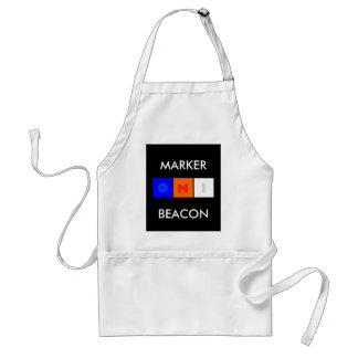 marker beacon, MARKER, BEACON Adult Apron