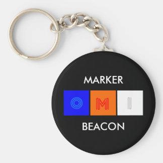 marker beacon, MARKER, BEACON Keychain
