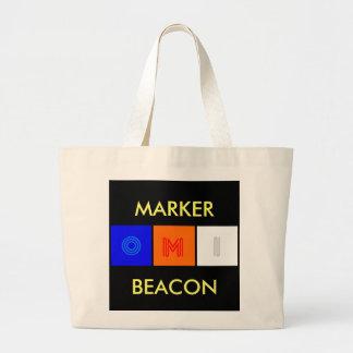 marker beacon, MARKER, BEACON Large Tote Bag