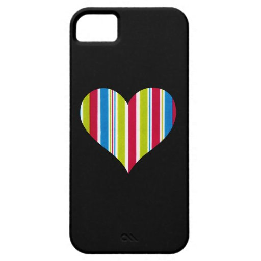 Marker Lines - Green Red Blue - Love Heart iPhone 5 Case