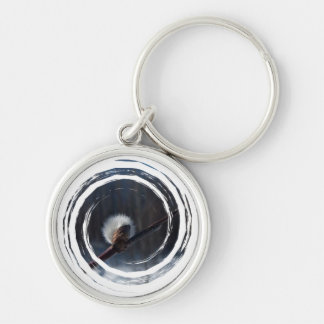 Marker of Spring Silver-Colored Round Keychain
