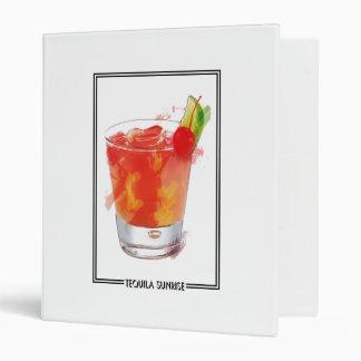 Marker Sketch Tequila Sunrise Cocktail Binder