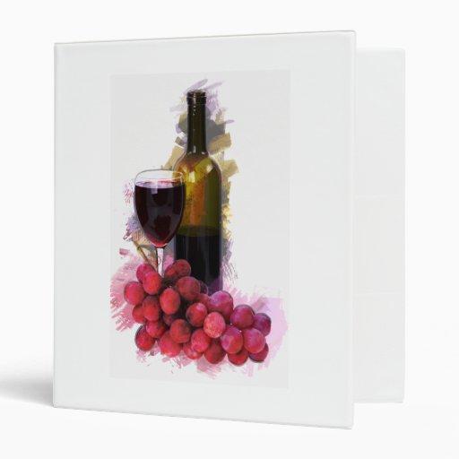 Marker Sketch, Wine Glass, Bottle, Grapes Binder
