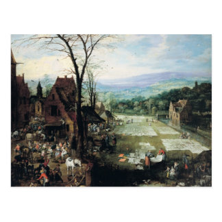 Market and Bleaching Ground, 1620-22 Postcard
