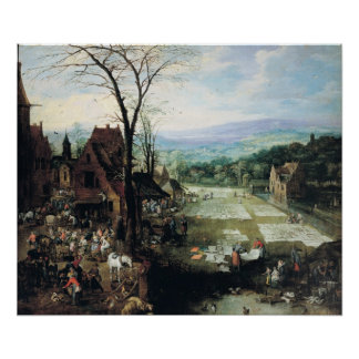 Market and Bleaching Ground, 1620-22 Posters
