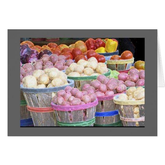 Market Bushels of Potatoes Card
