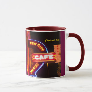 Market Cafe Sign Neon (Cleveland)Mug Mug